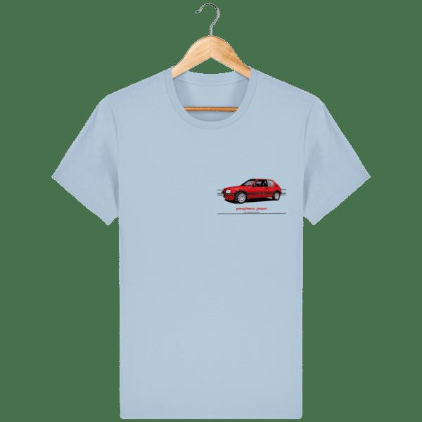 T-Shirt 205 GTI Addict coloris classiques - Sky blue - Face