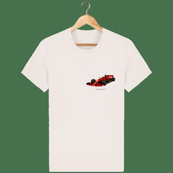 T-shirt dessin Formule 1 2020 SF1000 Charles Leclerc - Vintage White - Face