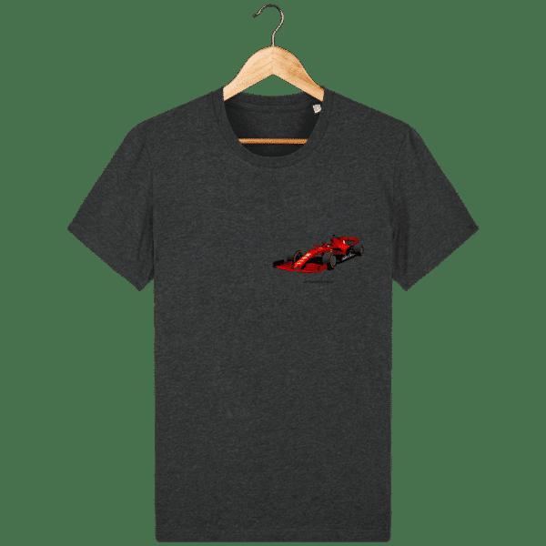T-shirt dessin Formule 1 2020 SF1000 Charles Leclerc - Dark Heather Grey - Face