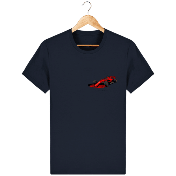 T-shirt dessin Formule 1 2020 SF1000 Charles Leclerc - French Navy - Face