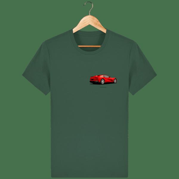T-shirt Ferrari 812 GTS - Bottle Green - Face