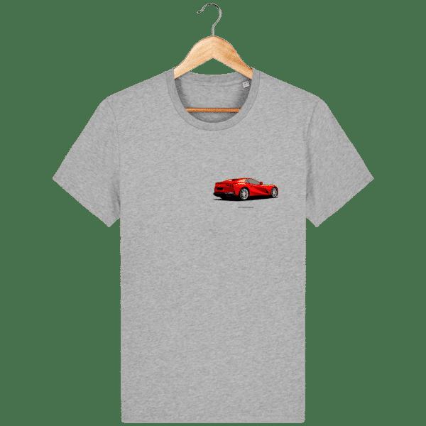 T-shirt Ferrari 812 GTS - Heather Grey - Face