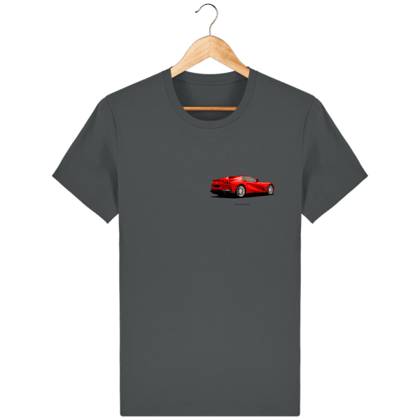 T-shirt Ferrari 812 GTS - Anthracite - Face