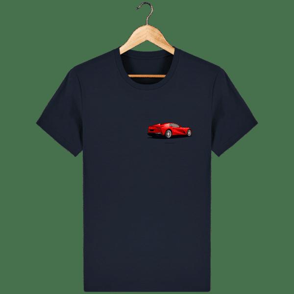 T-shirt Ferrari 812 GTS - French Navy - Face