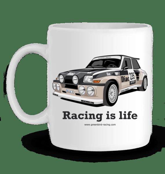 Mug Renault Maxi 5 Turbo Diac en Céramique - BLANC - Profil gauche