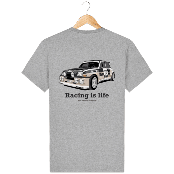 T-shirt Renault maxi 5 turbo Diac - Heather Grey - Dos