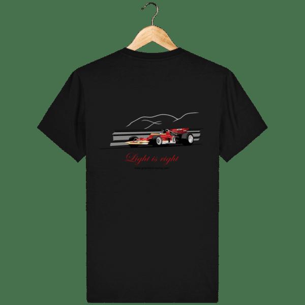 T-shirt Formule 1 1970 Lotus 72 Jochen Rindt Light is right - Black - Dos