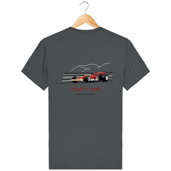 T-shirt Formule 1 1970 Lotus 72 Jochen Rindt Light is right - Anthracite - Dos