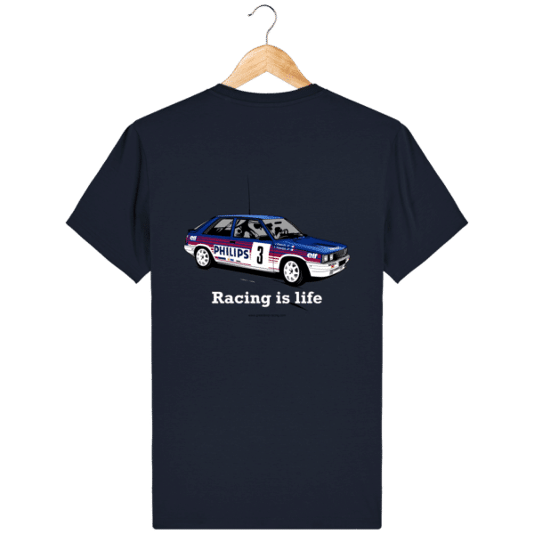 T-shirt R11 turbo de rallye grA Déco Philips Jean Ragnotti - French Navy - Dos