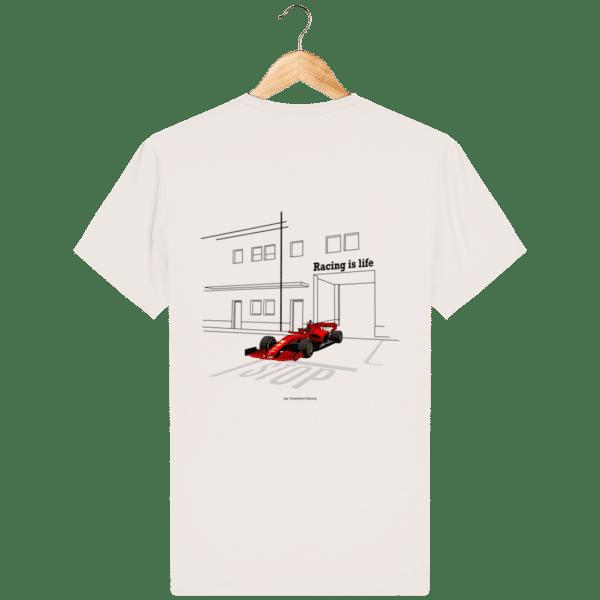 T-shirt dessin Formule 1 2020 SF1000 Charles Leclerc - Vintage White - Dos