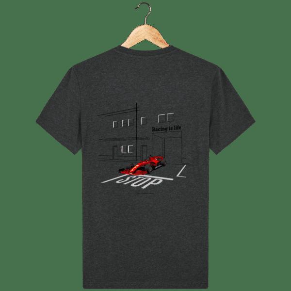 T-shirt dessin Formule 1 2020 SF1000 Charles Leclerc - Dark Heather Grey - Dos