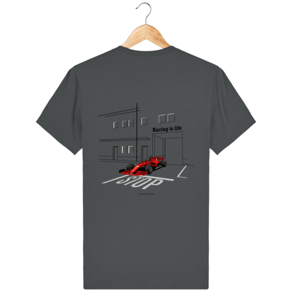 T-shirt dessin Formule 1 2020 SF1000 Charles Leclerc - Anthracite - Dos
