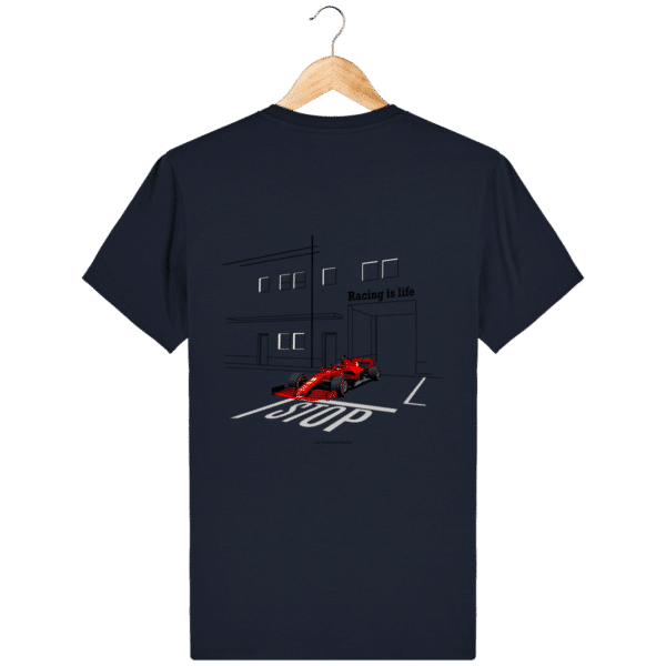 T-shirt dessin Formule 1 2020 SF1000 Charles Leclerc - French Navy - Dos
