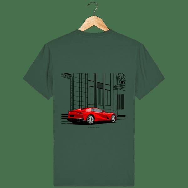 T-shirt Ferrari 812 GTS - Bottle Green - Dos