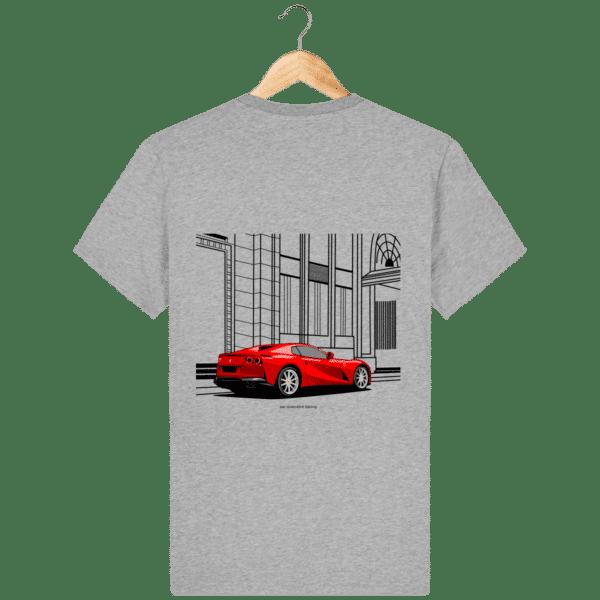 T-shirt Ferrari 812 GTS - Heather Grey - Dos