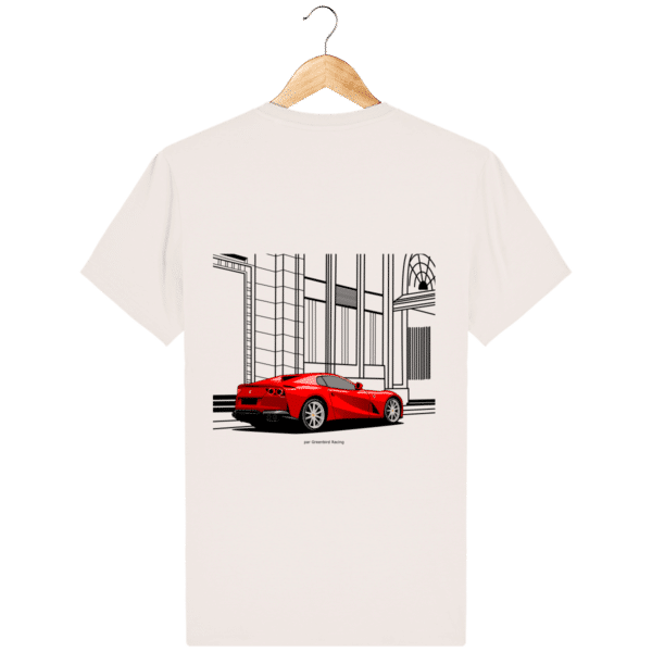 T-shirt Ferrari 812 GTS - Vintage White - Dos