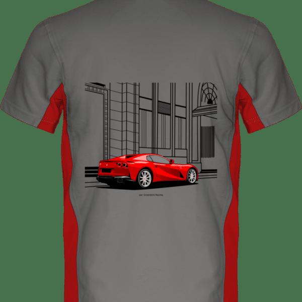 Polo Ferrari 812 GTS - Light Grey / Red - Dos