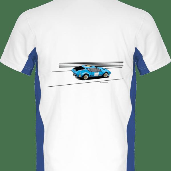 Polo Alpine A310 groupe 4 VHC bleue - White / Royal Blue - Dos