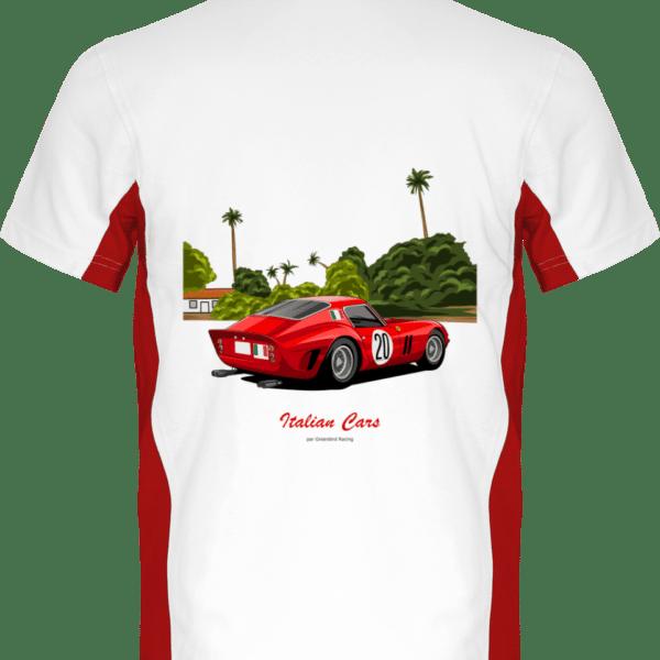 T-shirt Ferrari GTO - White / Red - Dos