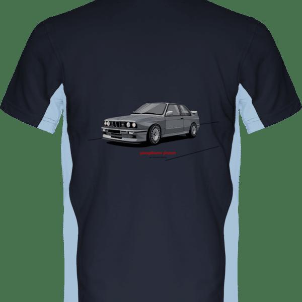 Polo BMW M3 E30 Motorsport grise - Navy / Sky Blue - Dos