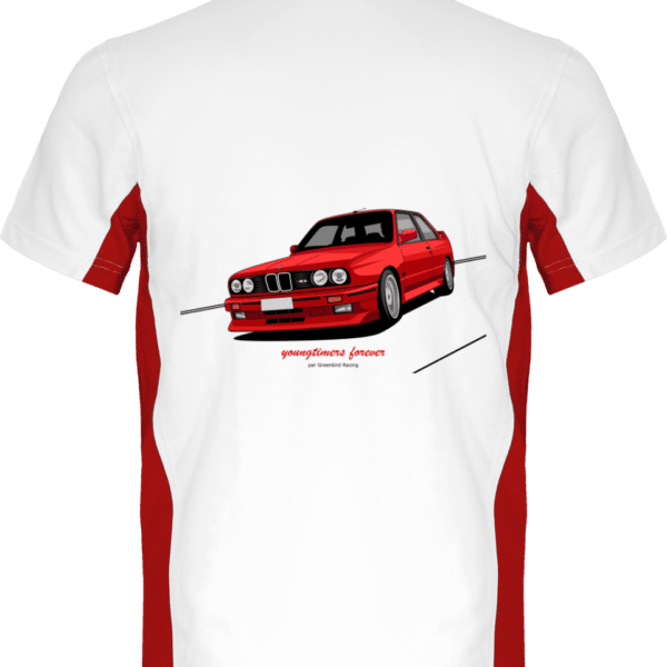 Polo M3 E30 rouge yountimers forever - White / Red - Dos