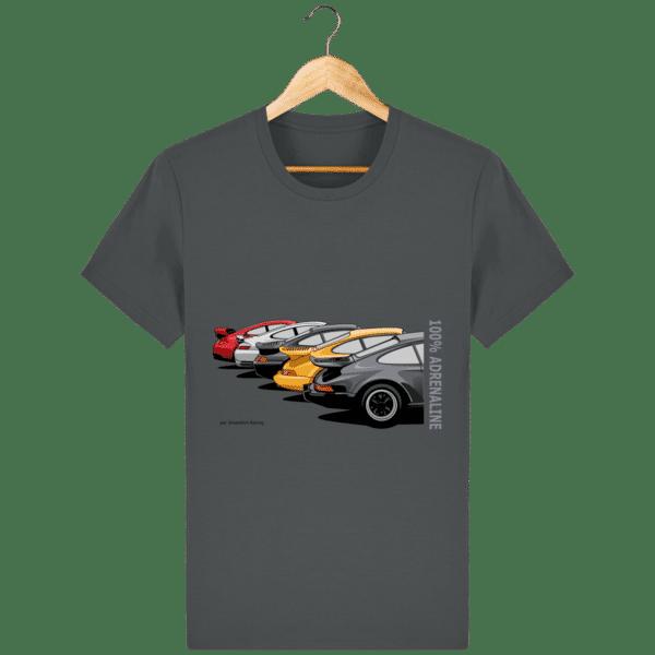 T-shirt PORSCHE CLASSIC coloris 1 - Anthracite - Face