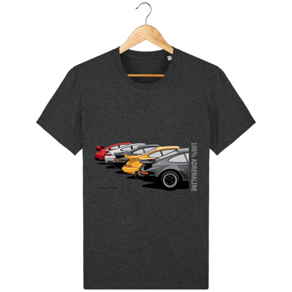 T-shirt PORSCHE CLASSIC coloris 1 - Dark Heather Grey - Face