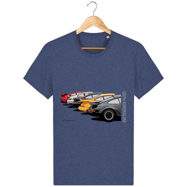 T-shirt PORSCHE CLASSIC coloris 1 - Dark Heather Indigo - Face