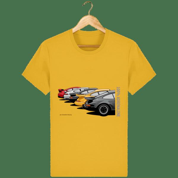 T-shirt PORSCHE CLASSIC coloris 1 - Spectra Yellow - Face