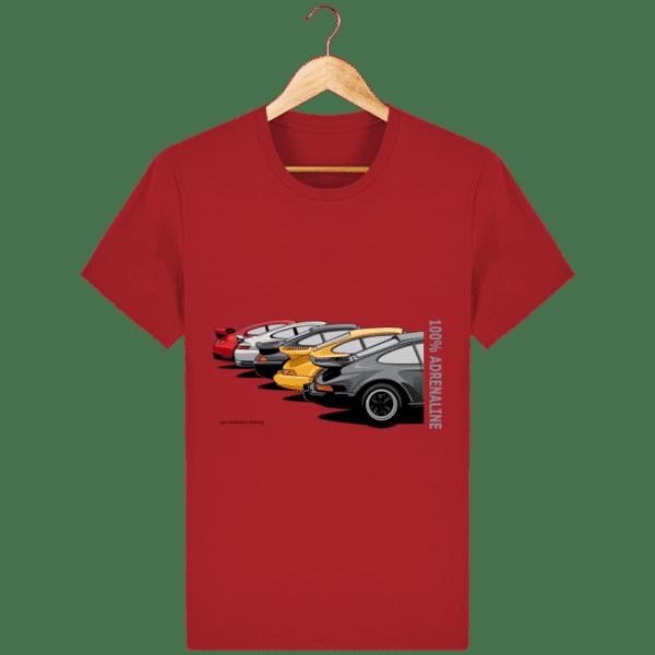 T-shirt PORSCHE CLASSIC coloris 1 - Red - Face