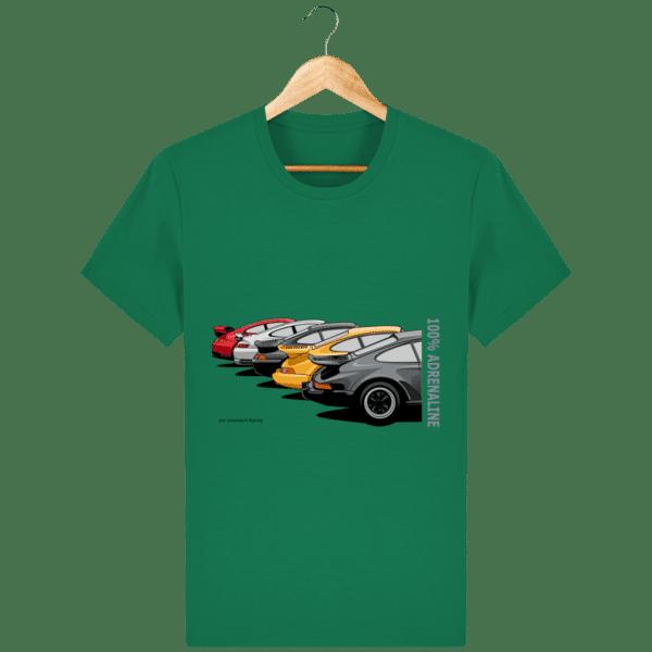 T-shirt PORSCHE CLASSIC coloris 1 - Varsity Green - Face
