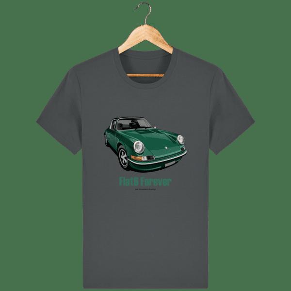 T-shirt Porsche vintage 2,4 verte 1968 - Anthracite - Face