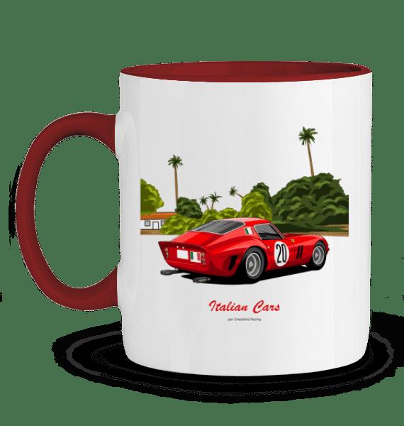 Mug Ferrari 250 GTO rouge italian cars - ROUGE - Profil gauche