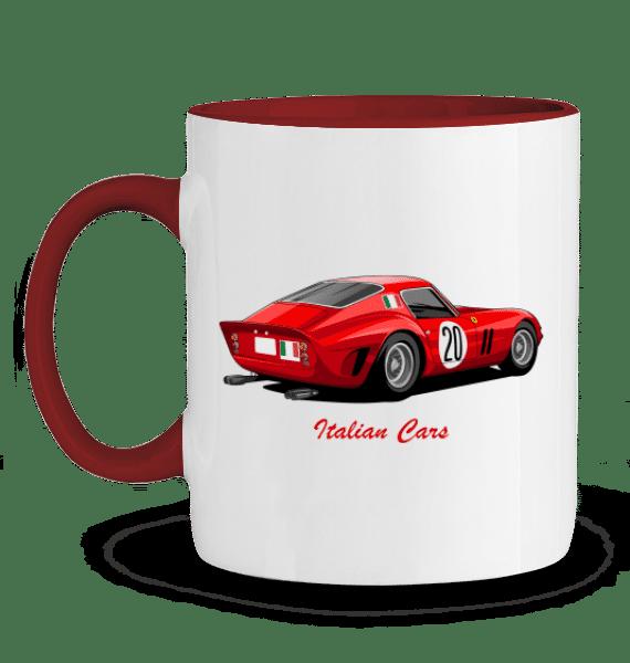Mug Ferrari 250 GTO rouge italian cars v2 - ROUGE - Profil gauche