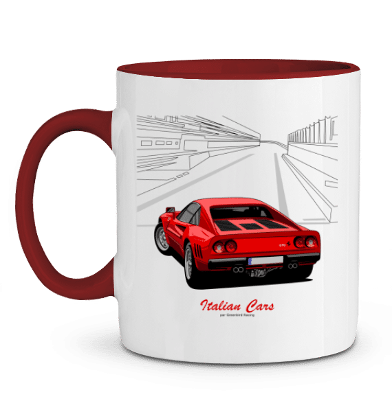 Mug Ferrari 288 GTO 1984 rouge - Italian cars - ROUGE - Profil gauche