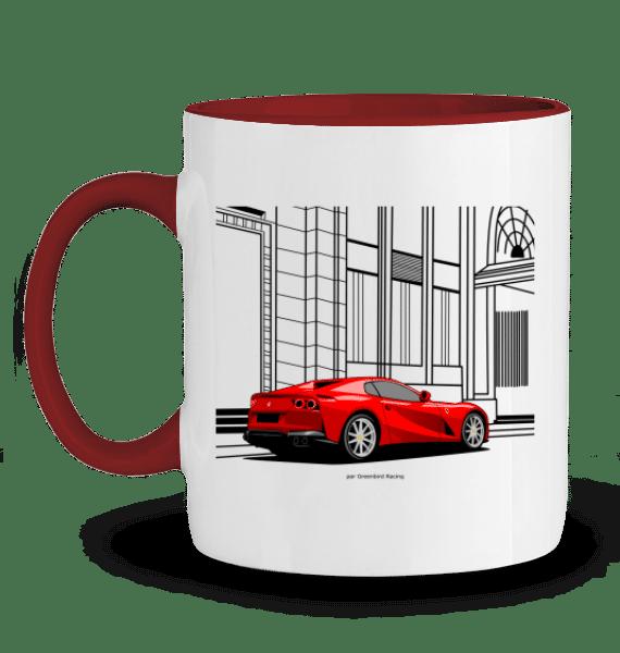 Mug Ferrari 812 GTS - ROUGE - Profil gauche
