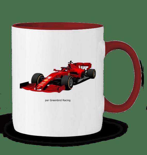 Mug Formule 1 Ferrari SF1000 charles Leclerc 2020 - ROUGE - Profil droit