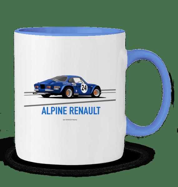 Mug ALPINE RENAULT A110 championne du monde 1973 - BLEU CAMBRIDGE - Profil droit