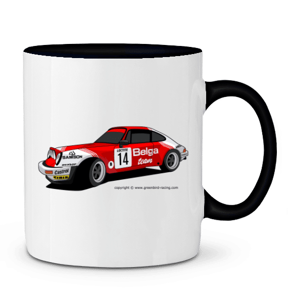 Mug Porsche 911 gr4 2,8l RSR VHC - NOIR - Profil droit