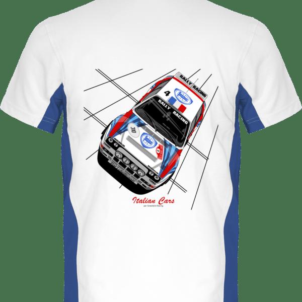 Polo Lancia Delta Integrale 16S grA VHC Italian Cars - White / Royal Blue - Dos